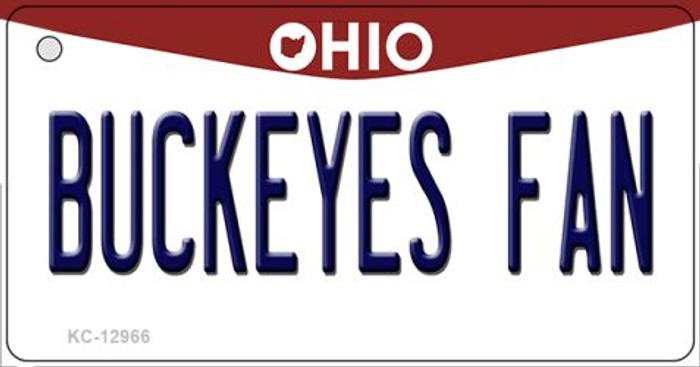 Buckeyes Fan Novelty Metal Key Chain KC-12966