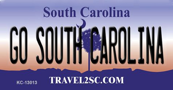 Go South Carolina Novelty Metal Key Chain KC-13013