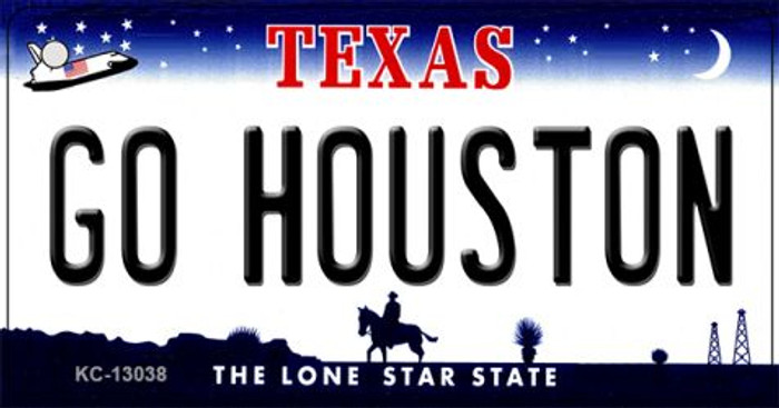 Go Houston Novelty Metal Key Chain KC-13038