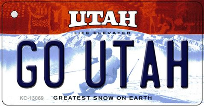 Go Utah Novelty Metal Key Chain KC-13069