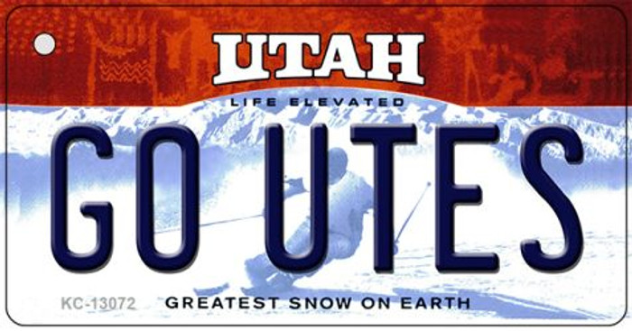 Go Utes Novelty Metal Key Chain KC-13072