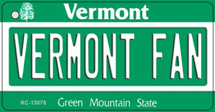 Vermont Fan Novelty Metal Key Chain KC-13075