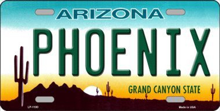 Phoenix Arizona Novelty Metal License Plate
