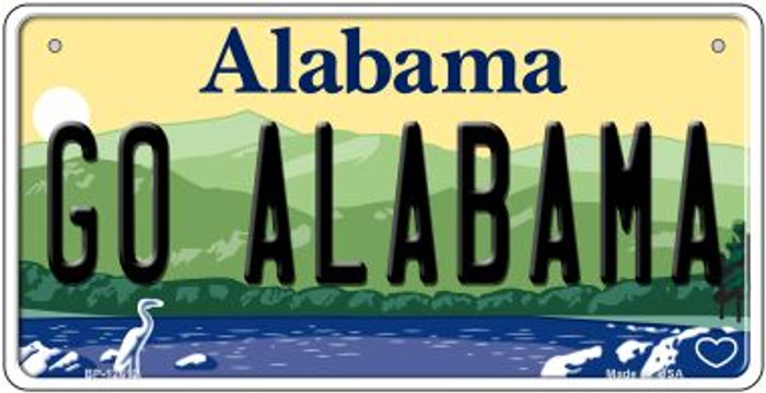 Go Alabama Novelty Metal Bicycle Plate BP-12612
