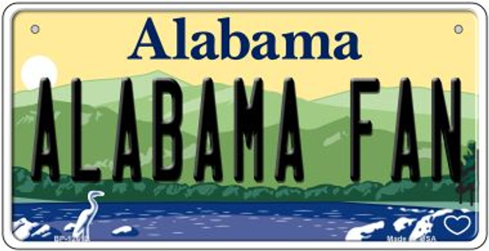 Alabama Fan Novelty Metal Bicycle Plate BP-12613