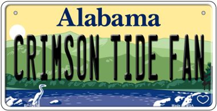 Crimson Tide Fan Novelty Metal Bicycle Plate BP-12616