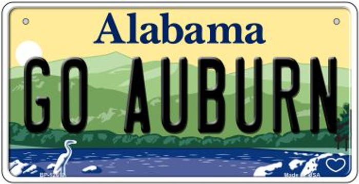Go Auburn Novelty Metal Bicycle Plate BP-12617