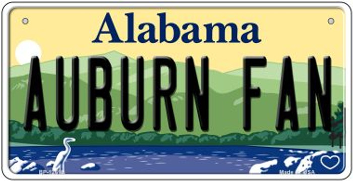 Auburn Fan Novelty Metal Bicycle Plate BP-12618