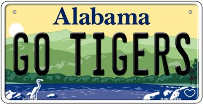 Go Tigers Novelty Metal Bicycle Plate BP-12619