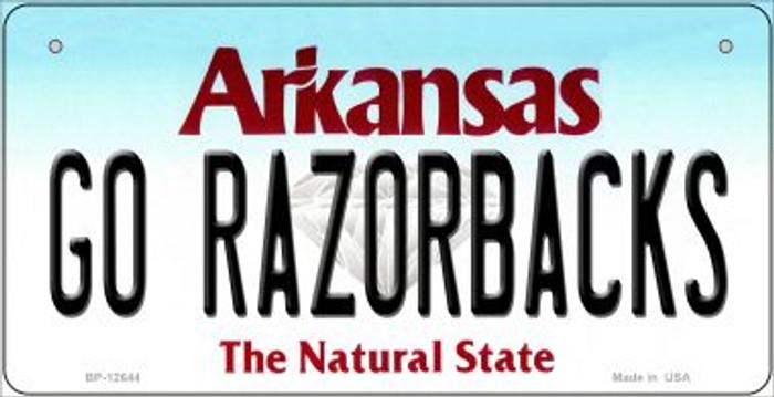 Go Razorbacks Novelty Metal Bicycle Plate BP-12644