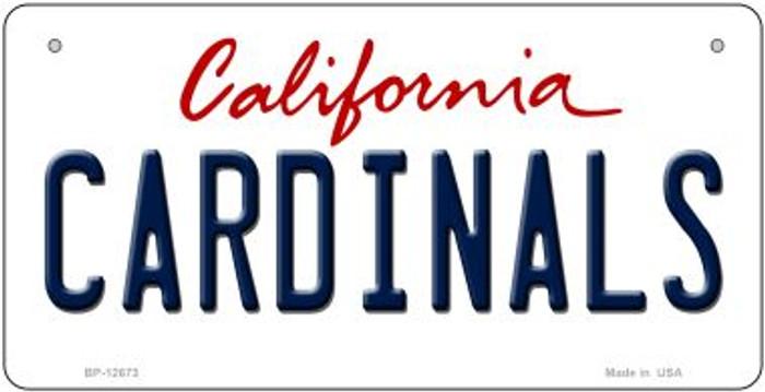 Cardinals Novelty Metal Bicycle Plate BP-12673