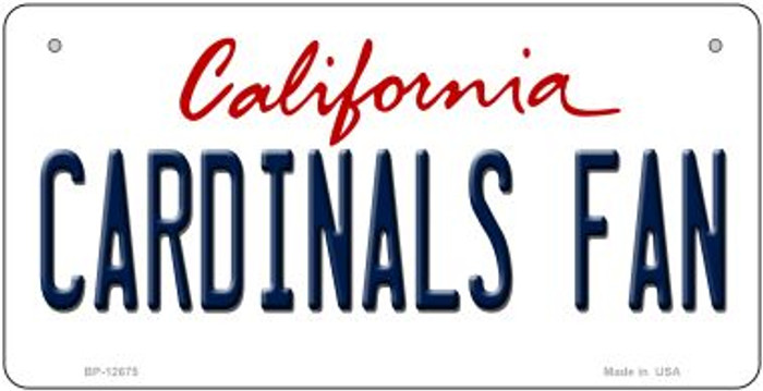 Cardinals Fan Novelty Metal Bicycle Plate BP-12675