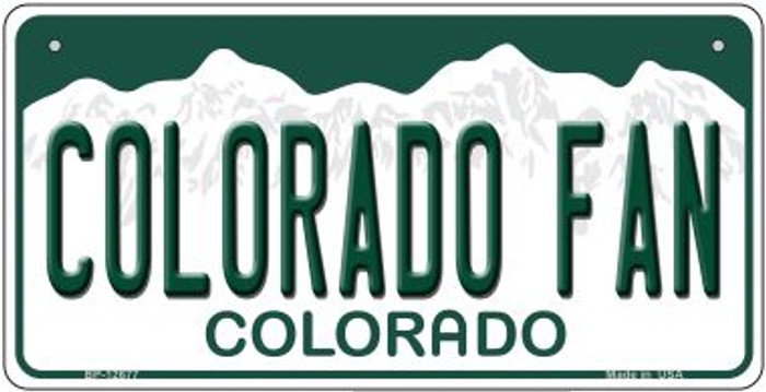 Colorado Fan Novelty Metal Bicycle Plate BP-12677