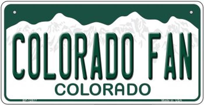 Colorado Fan Novelty Metal Bicycle Plate BP-12677