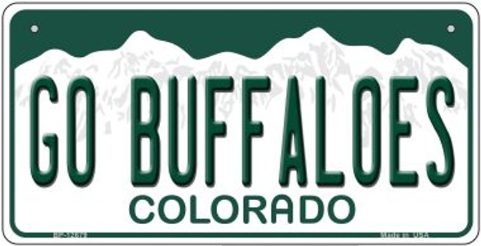 Go Buffaloes Novelty Metal Bicycle Plate BP-12679