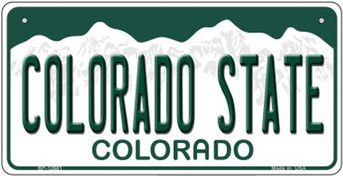 Colorado State Novelty Metal Bicycle Plate BP-102681