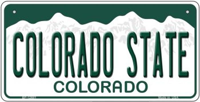 Colorado State Novelty Metal Bicycle Plate BP-102681