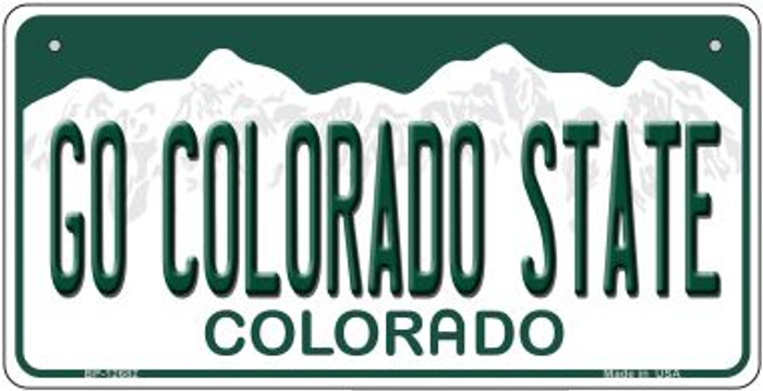Go Colorado State Novelty Metal Bicycle Plate BP-12682