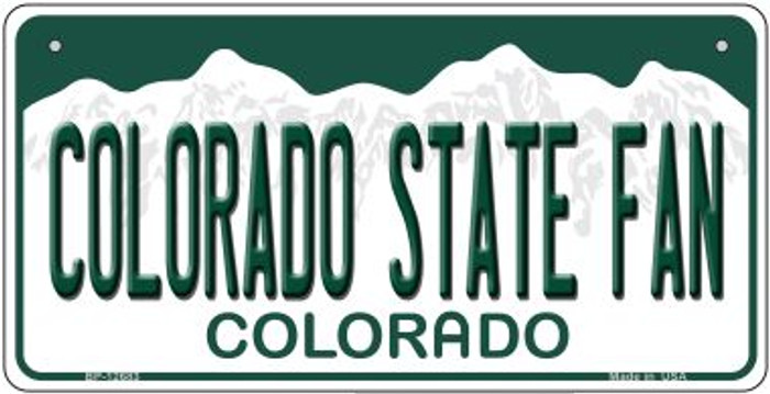 Colorado State Fan Novelty Metal Bicycle Plate BP-12683