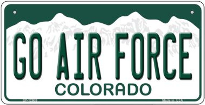 Go Air Force Novelty Metal Bicycle Plate BP-12688