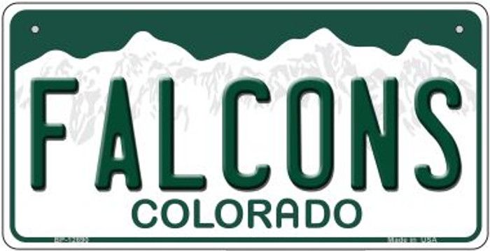 Falcons Novelty Metal Bicycle Plate BP-12690