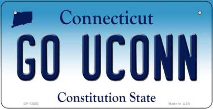 Go UConn Novelty Metal Bicycle Plate BP-12693