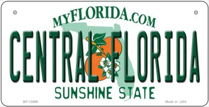 Central Florida Novelty Metal Bicycle Plate BP-12699