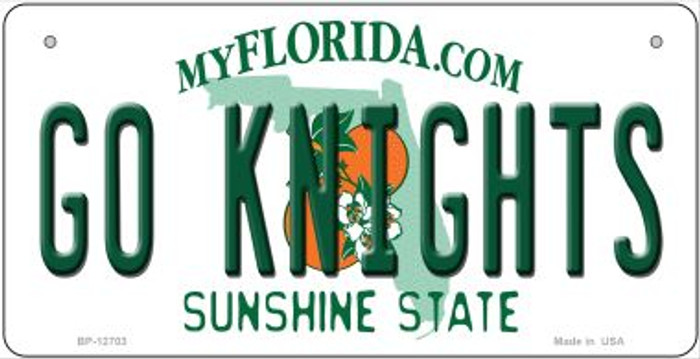 Go Knights Novelty Metal Bicycle Plate BP-12703