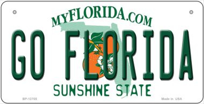 Go Florida Novelty Metal Bicycle Plate BP-12705
