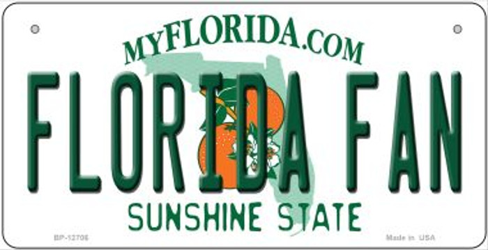 Florida Fan Novelty Metal Bicycle Plate BP-12706