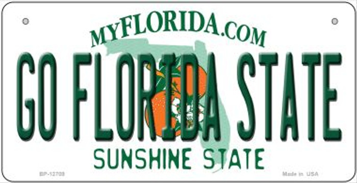 Go Florida State Novelty Metal Bicycle Plate BP-12709