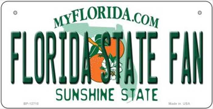 Florida State Fan Novelty Metal Bicycle Plate BP-12710