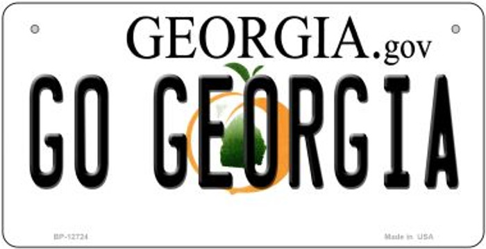 Go Georgia Novelty Metal Bicycle Plate BP-12724
