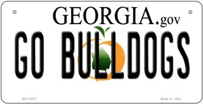 Go Bulldogs Novelty Metal Bicycle Plate BP-12727