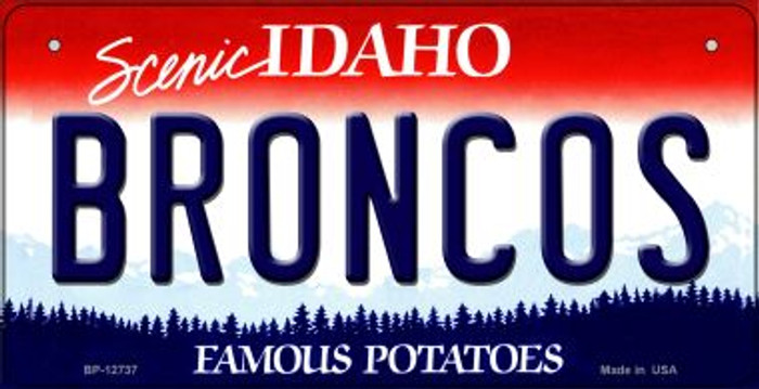 Broncos Novelty Metal Bicycle Plate BP-12737