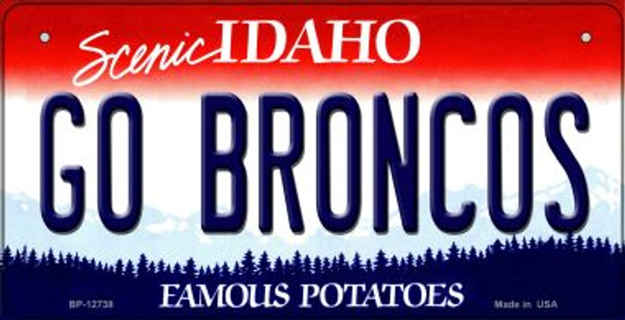 Go Broncos Novelty Metal Bicycle Plate BP-12738