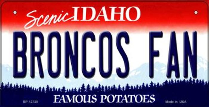 Broncos Fan Novelty Metal Bicycle Plate BP-12739