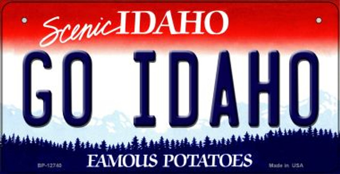 Go Idaho Novelty Metal Bicycle Plate BP-12740
