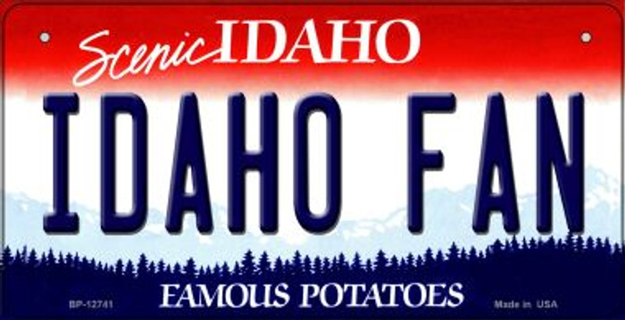 Idaho Fan Novelty Metal Bicycle Plate BP-12741