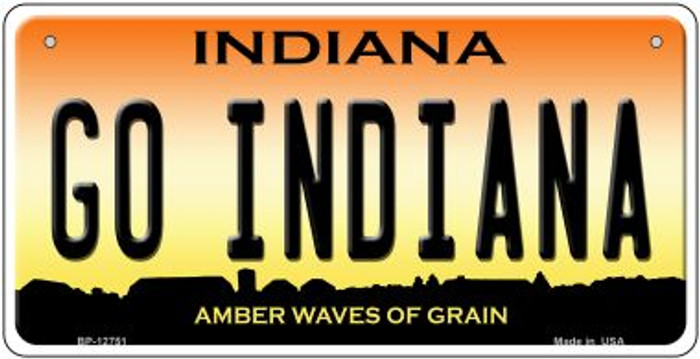 Go Indiana Novelty Metal Bicycle Plate BP-12751