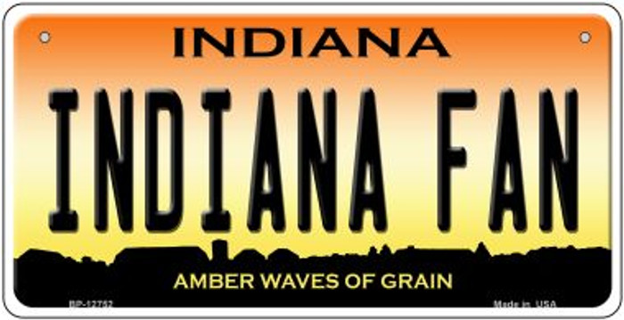 Indiana Fan Novelty Metal Bicycle Plate BP-12752