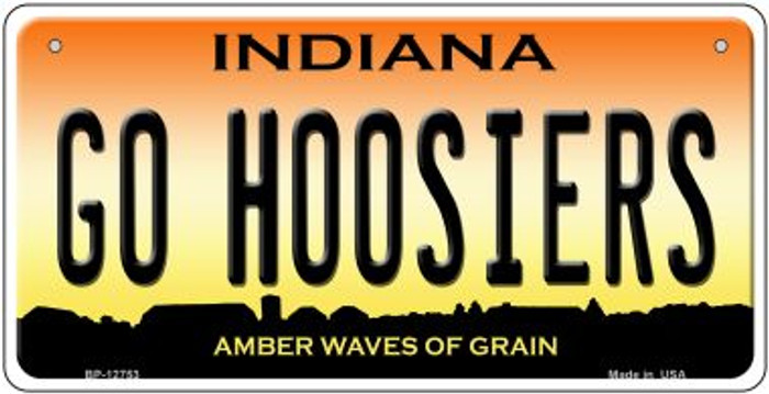 Go Hoosiers Novelty Metal Bicycle Plate BP-12753