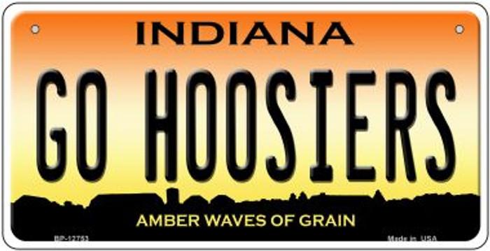 Go Hoosiers Novelty Metal Bicycle Plate BP-12753