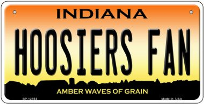 Hoosiers Fan Novelty Metal Bicycle Plate BP-12754