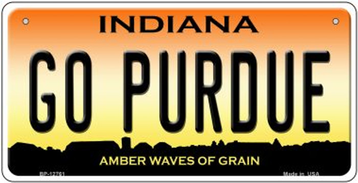 Go Purdue Novelty Metal Bicycle Plate BP-12761