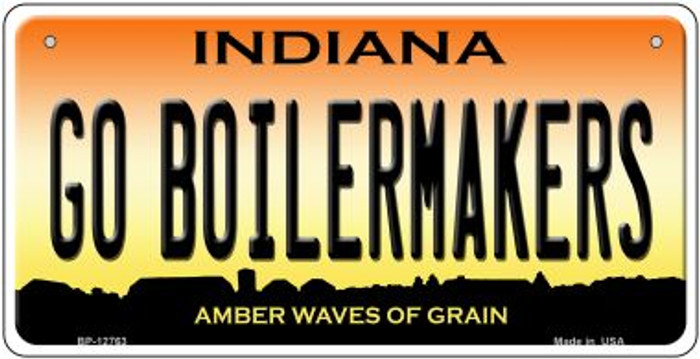 Go Boilermakers Novelty Metal Bicycle Plate BP-12763