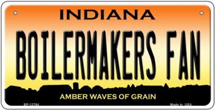Boilermakers Fan Novelty Metal Bicycle Plate BP-12764