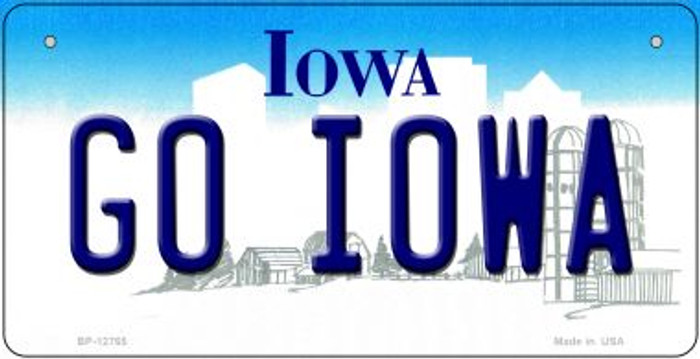 Go Iowa Novelty Metal Bicycle Plate BP-12765