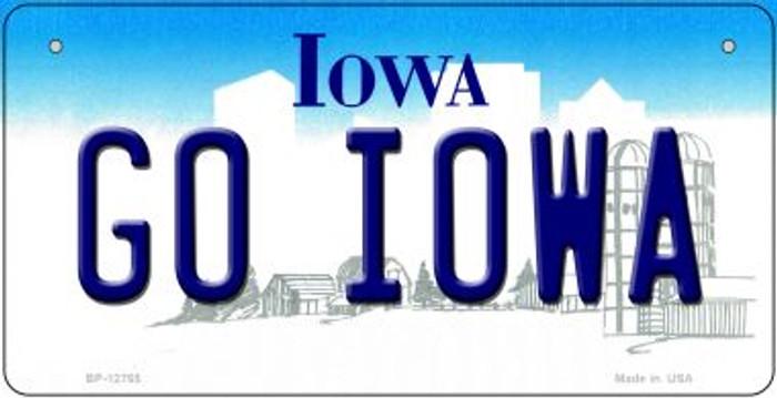 Go Iowa Novelty Metal Bicycle Plate BP-12765