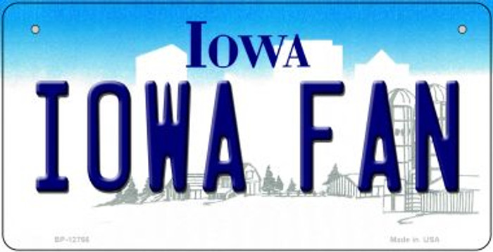 Iowa Fan Novelty Metal Bicycle Plate BP-12766